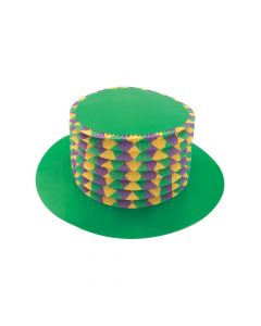 Mardi Gras Accordion Top Hats