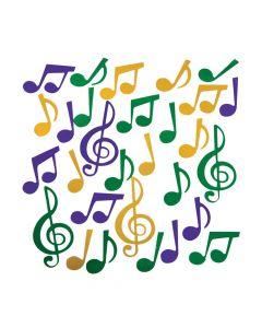 Mardi Gras Music Note Confetti