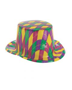 Mardi Gras Pattern Top Hats