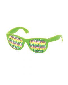 Mardi Gras Pinhole Glasses