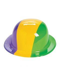 Mardi Gras Tri-Color Derby Hats