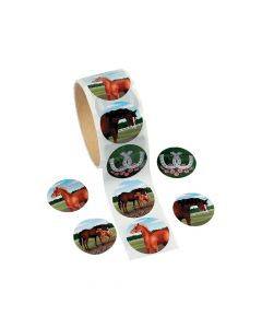 Mare and Foal Horse Sticker Rolls