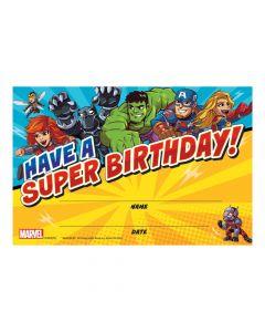 Marvel Avengers Happy Birthday Certificates
