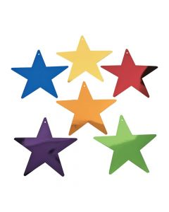 Medium Colorful Metallic Stars