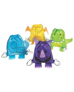 Medium Dinosaur Drawstring Bags