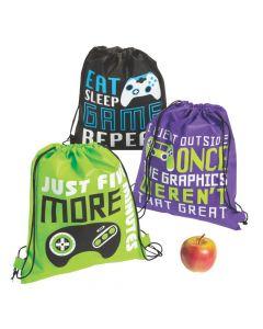 Medium Gamer Drawstring Bags