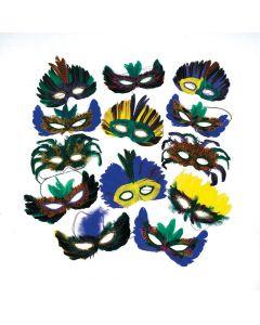 Mega Masquerade Feather Mask Assortment