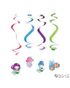 Mermaid Party Hanging Swirls