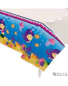 Mermaid Party Plastic Tablecloth