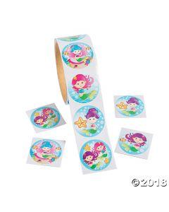 Mermaid Roll of Stickers