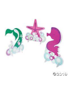 Mermaid Sparkle Glitter Centerpiece Set