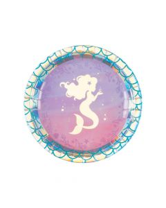 Mermaid Sparkle Luncheon Paper Plates