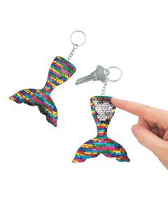 Mermaid Tail Reversible Sequin Keychains