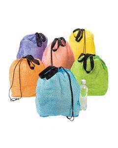 Mesh Beach Drawstring Backpacks