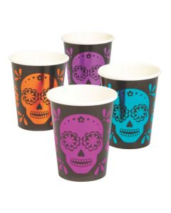 Metallic Day of the Dead Paper Cups