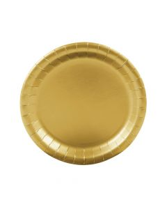 Metallic Gold Paper Dinner Plates