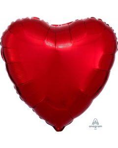 Metallic Red Heart Balloon