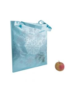 Metallic Snowflake Tote Bags