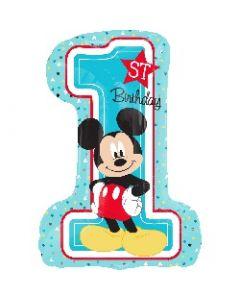 Mickey 1st Birthday Supershape Foil Balloon