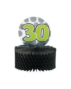 Mini 30th Birthday Centerpieces