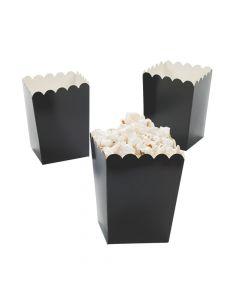 Mini Black Popcorn Boxes
