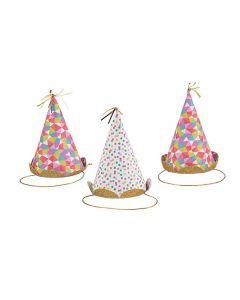 Mini Confetti Cone Party Hats