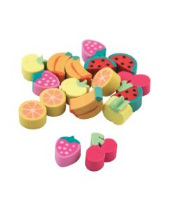 Mini Fruit Erasers
