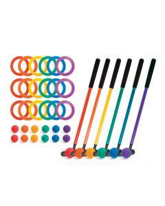 Mini Golf Set 6 Assorted Colors