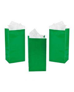 Mini Green Treat Bags