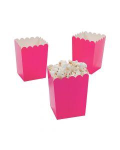 Mini Hot Pink Valentine Popcorn Boxes