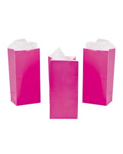 Mini Hot Pink Valentine Treat Bags