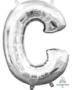 Mini Letter C Silver Foil Balloon