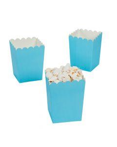 Mini Light Blue Popcorn Boxes