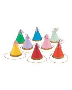 Mini Multicolor Cone Party Hats