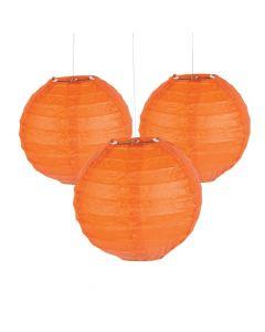 Mini Orange Hanging Paper Lanterns
