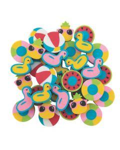 Mini Pool Party Eraser Assortment