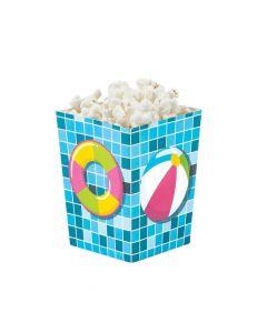 Mini Pool Party Popcorn Boxes