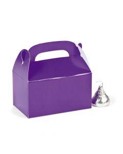 Mini Purple Favor Boxes