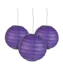 Mini Purple Hanging Paper Lanterns