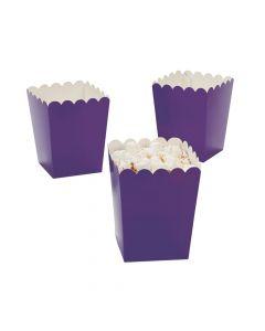 Mini Purple Popcorn Boxes