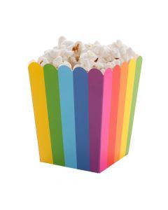 Mini Rainbow Popcorn Boxes