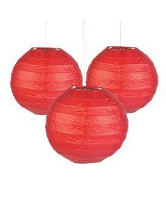Mini Red Hanging Paper Lanterns