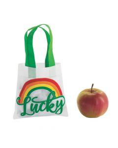 Mini Saint Patrick's Day Rainbow Tote Bags