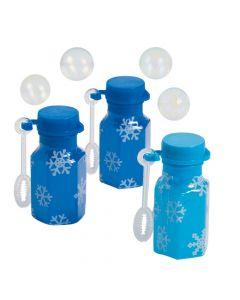 Mini Snowflake Bubble Bottles