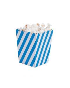 Mini Striped Blue and White Popcorn Boxes