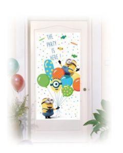 Minions Balloons Party Door Banner