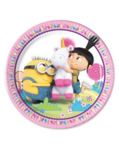 Minions Fluffy Paper Plates Large