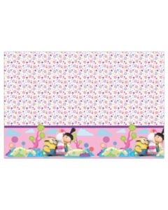Minions Fluffy Plastic Tablecover