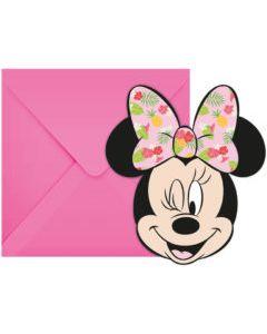Minnie Tropical Invitations & Envelopes