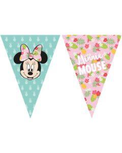 Minnie Tropical Triangle Flag Banner